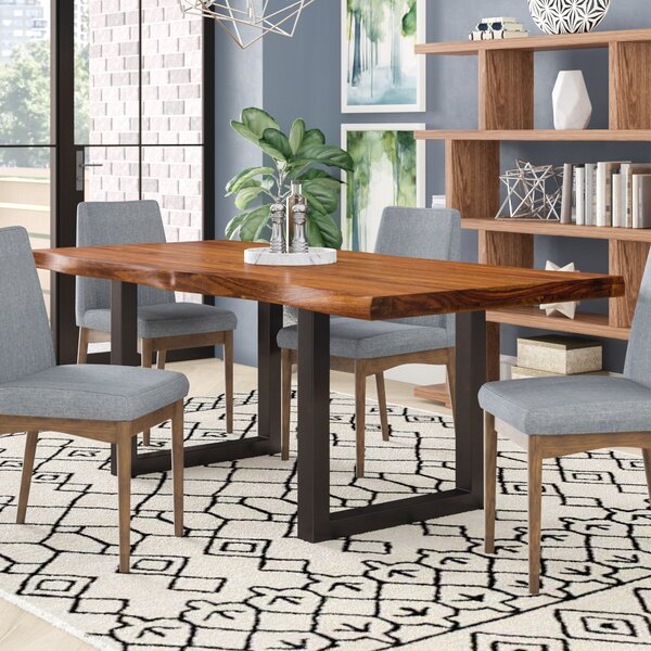 Brayden Studio Linde Dining Table Reviews Wayfair Impressive Picture Of A Dining Room