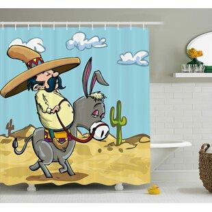 Sombrero Man Shower Curtain