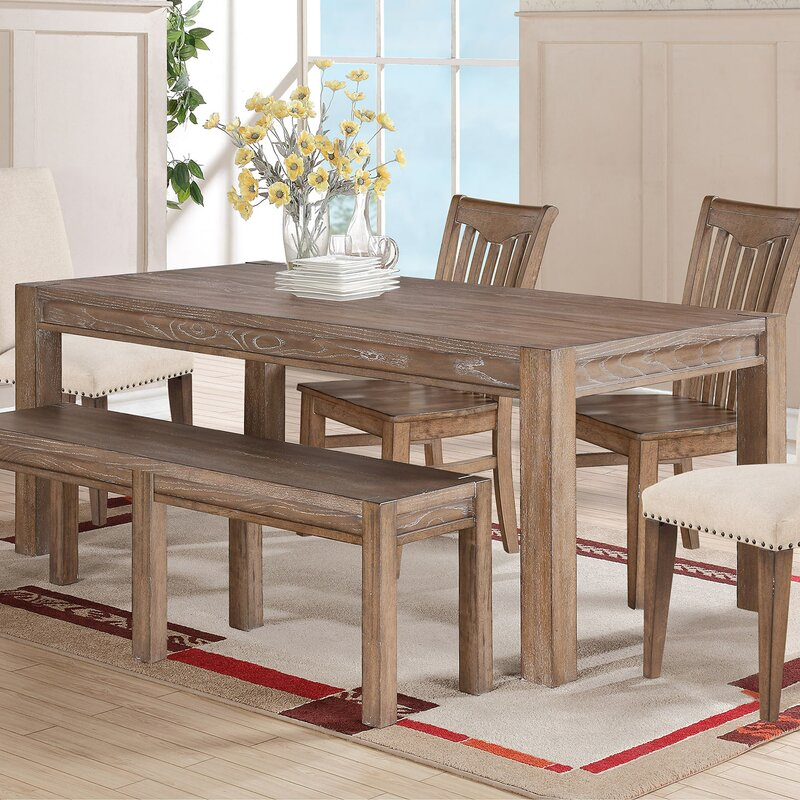 one allium way plessis extendable dining table & reviews | wayfair