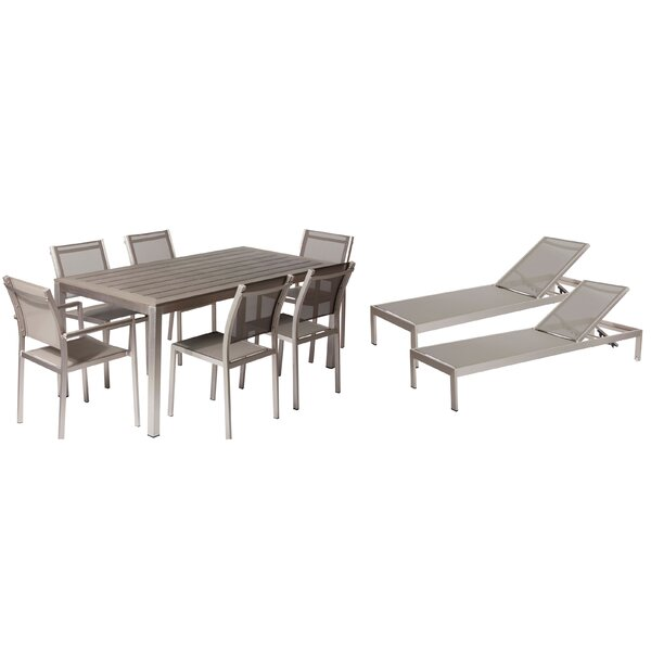 Wade Logan Lindquist 9 Piece Patio Set | Wayfair