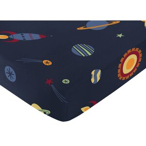 Space Galaxy Fitted Crib Sheet
