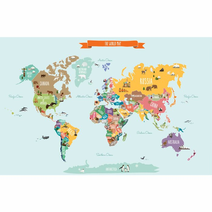 Simpleshapes countries of the world map poster wall decal countries of the world map poster wall decal gumiabroncs Image collections
