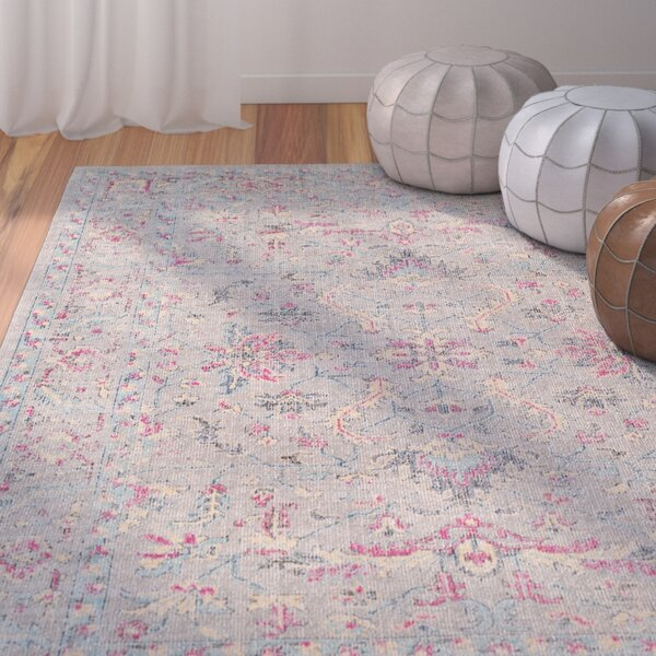 Bungalow Rose Randhir Floral Gray Pink Area Rug Amp Reviews