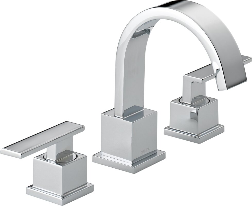 Delta Windemere B3596lf Double Handle Widespread Bathroom: Vero Two Handle Widespread Bathroom Faucet With Drain