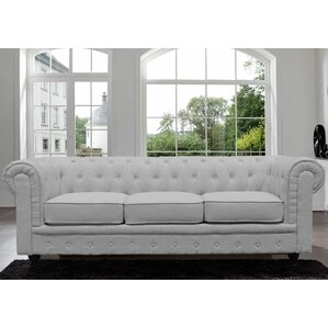 Elstone Classic Scroll Arm Tufted Chesterfie..