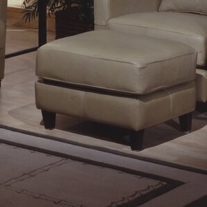 Skyline Leather Ottoman by Omnia Leather