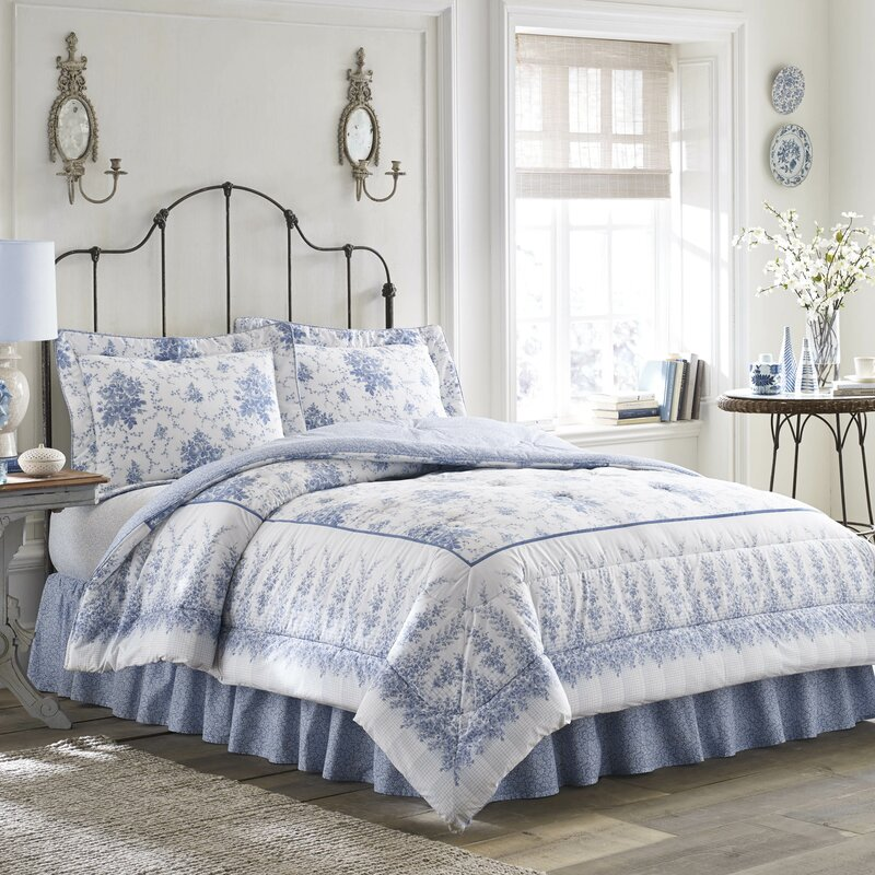laura ashley home sophia cotton comforter set by laura. Black Bedroom Furniture Sets. Home Design Ideas