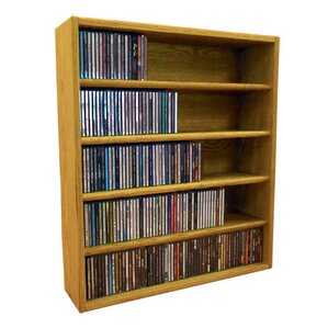 Multimedia Storage Rack by Wood Shed
