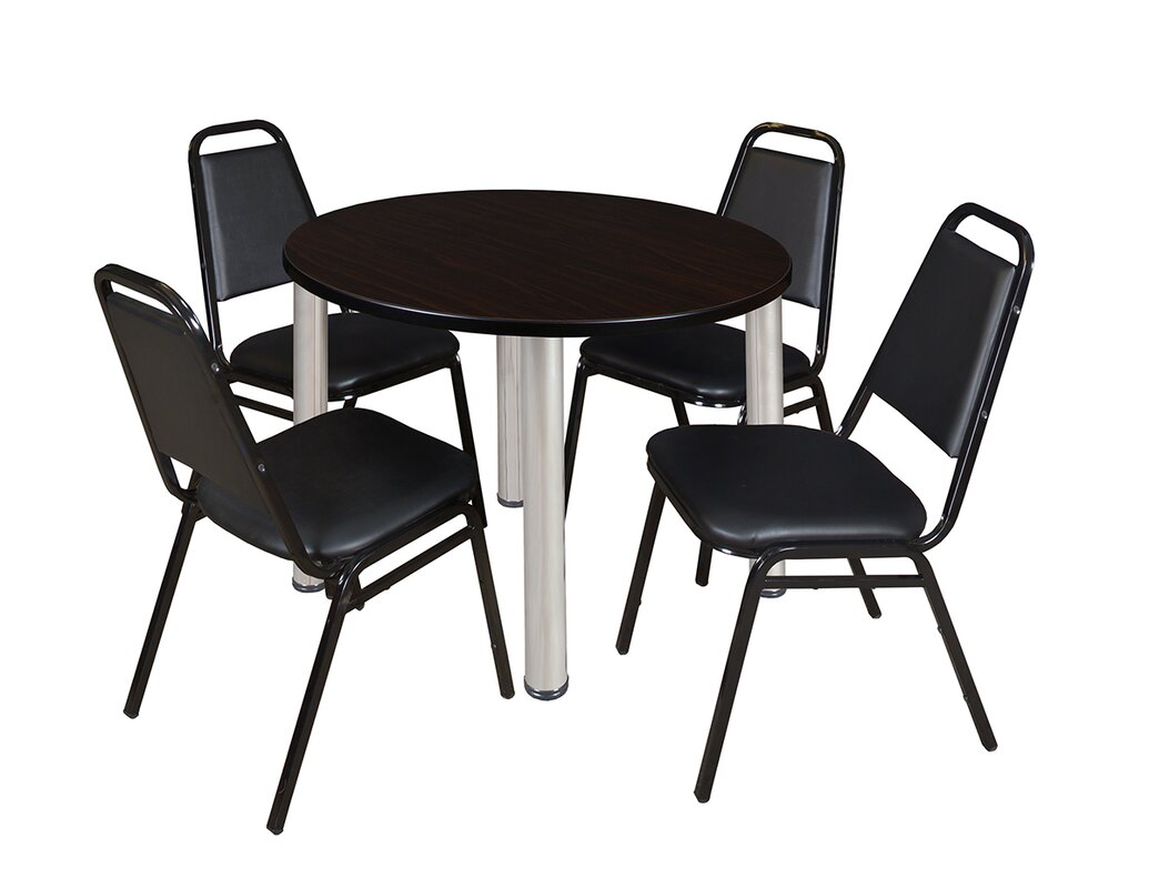Regency Kee 5 Piece Round Breakroom Table Set Reviews Wayfair Ca