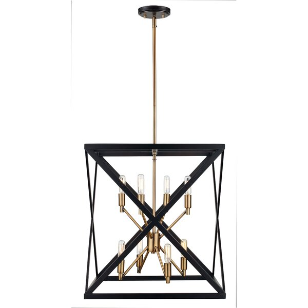 Tanksley 8 Light Square Rectangle Chandelier Amp Reviews