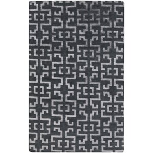 Bart Hand-Knotted Charcoal/Medium Gray Area Rug
