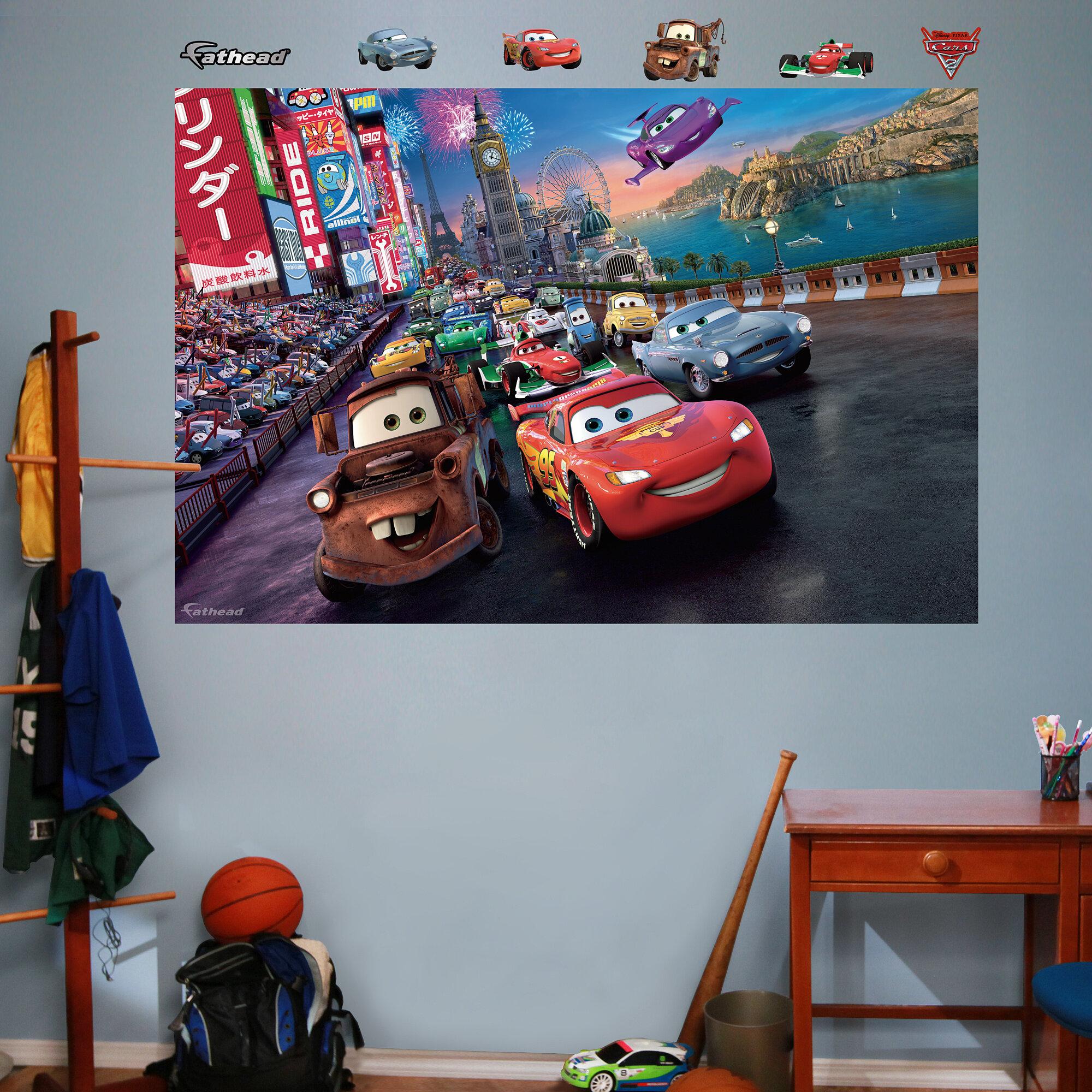 Fathead Disney Cars 2 Parade Wall Decal Wayfair