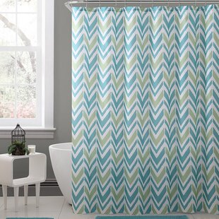Kallock Royal Bath Chevron Polyester Shower Curtain