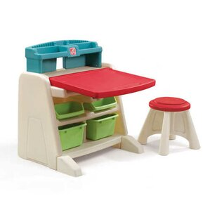 Flip and Doodle Easel Desk with Stool by Step2