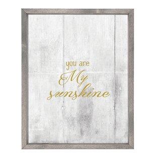 Superbe You Are My Sunshine Wall Art | Wayfair