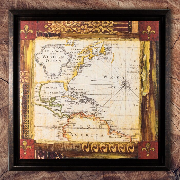 Cyrg old world map painting print on canvas wayfair old world map painting print on canvas gumiabroncs Gallery