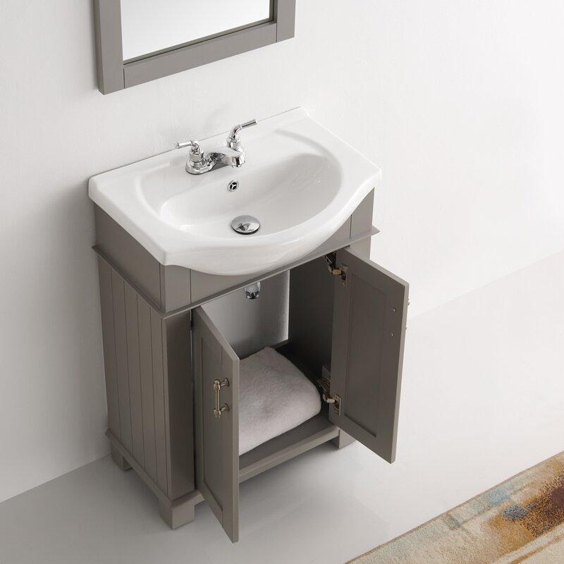 "Bathroom Vanities You Put Together fresca cambria 24"" single bathroom vanity set & reviews | wayfair"
