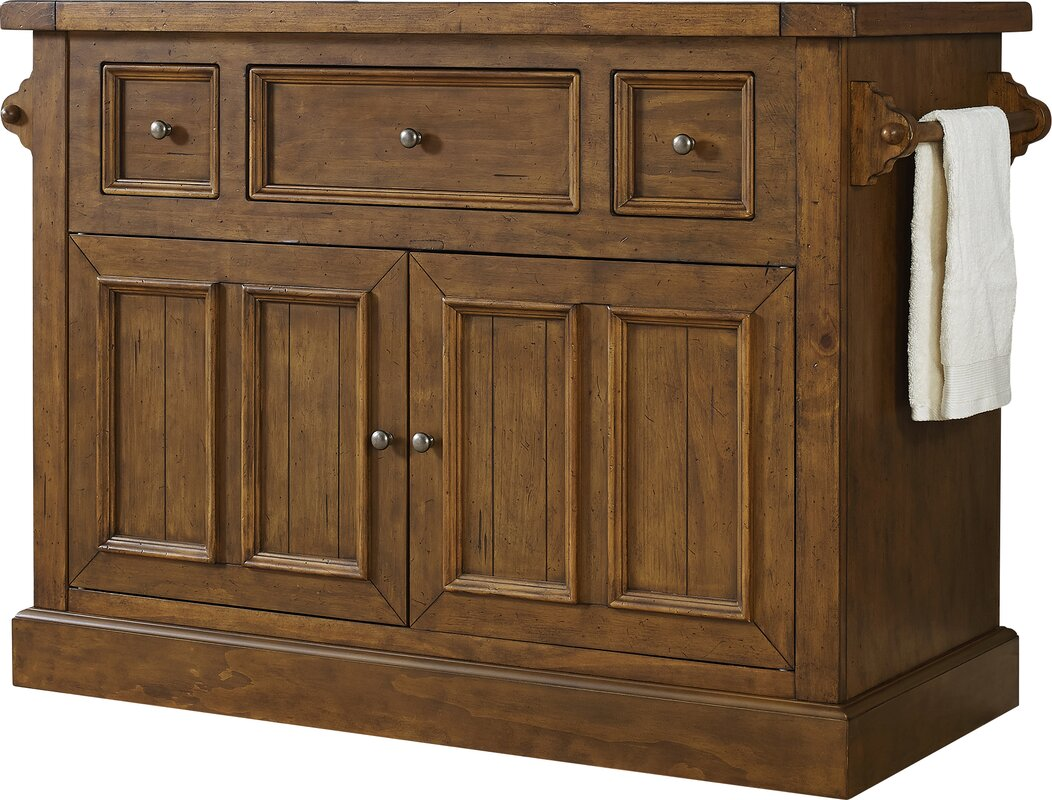 christopher kitchen island with marble top & reviews | joss & main