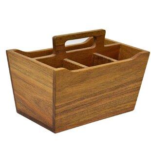 Baker Wooden Flatware Caddy