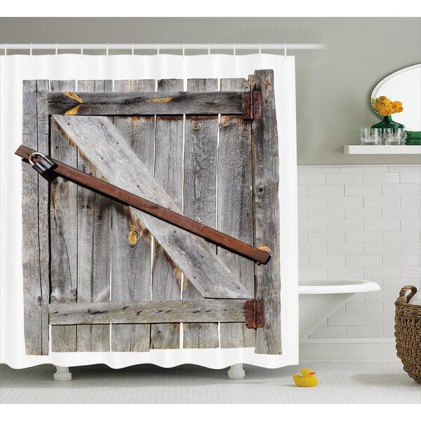 Barn Door Shower Curtain | Wayfair