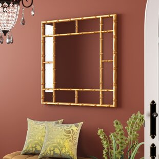 Square Bamboo Accent Mirror