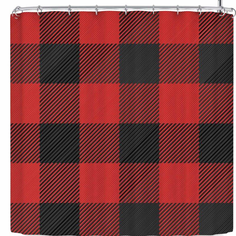 Kess Original And Plaid Shower Curtain