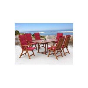 6-Sitzer Gartengarnitur Cuba mit Polster von Gra..