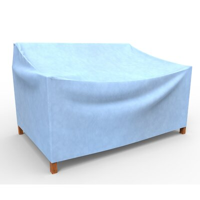 Freeport Park Aaden Outdoor Loveseat Cover Color: Blue, Size: 39 H x 57 W x 41 D, Material: Polypropylene