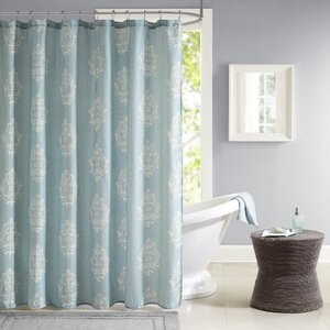 Amara Texture Printed Shower Curtain