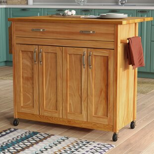 Remsen Kitchen Island with Wood Top