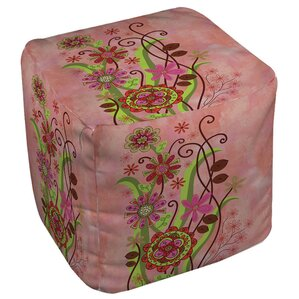 Flower Power Stems Ottoman by Manual Woodwor..