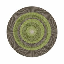 Eccentric Hand-Tufted Green/Sable Area Rug