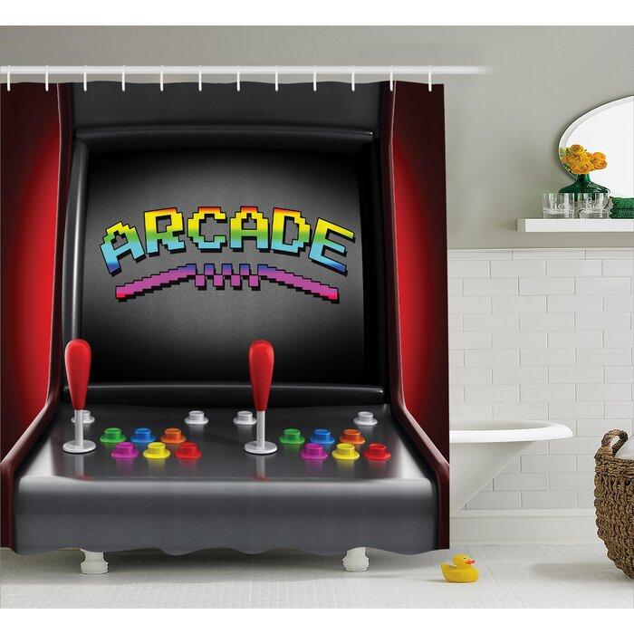 Video Games Arcade Retro Fun Shower Curtain