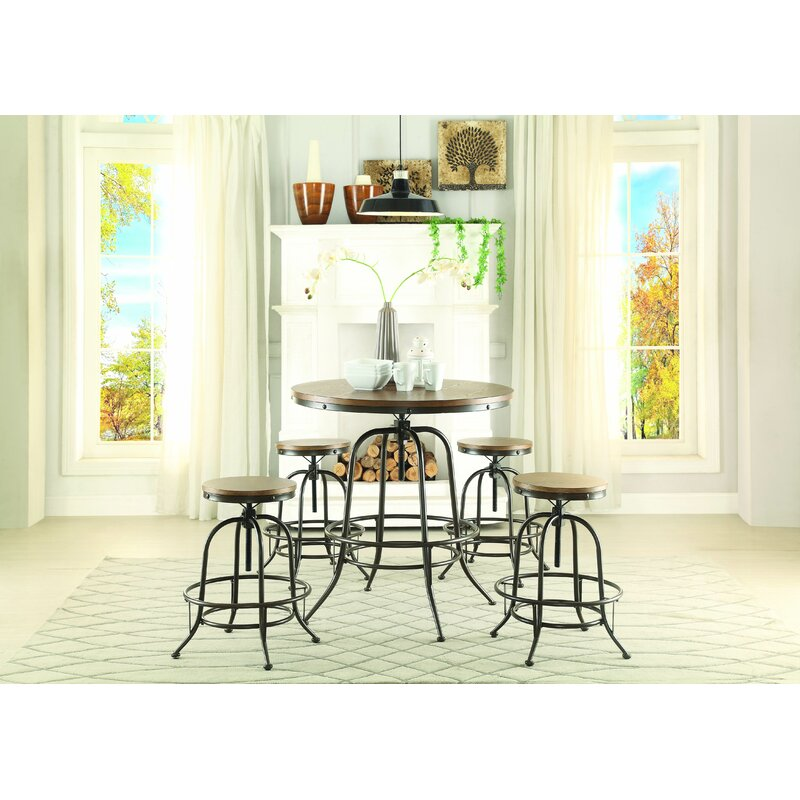 trent austin design alva round counter height dining table wayfair