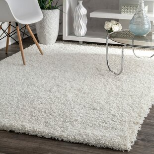 Welford White Shag Area Rug