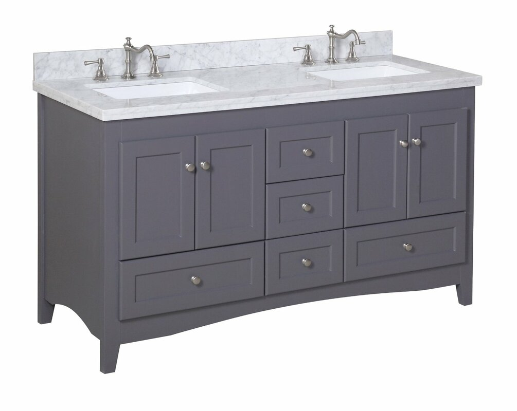 Abbey Double Bathroom Vanity Set Reviews Joss Main