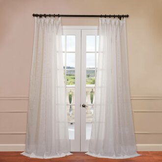 Panel Pair Curtains Can Also Be Used To Frame And Filter Light Around A Set Of Doors Left