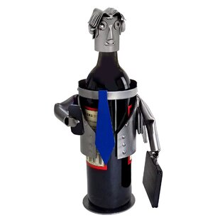 Male Executive 1 Bottle Tabletop Wine Rack