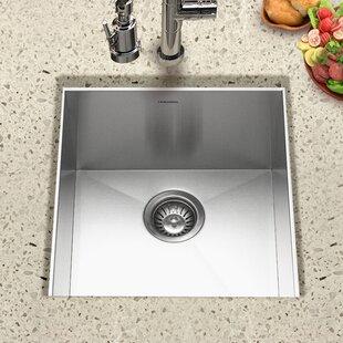 Contempo 18 L X 17 W Zero Radius Undermount Bar Sink