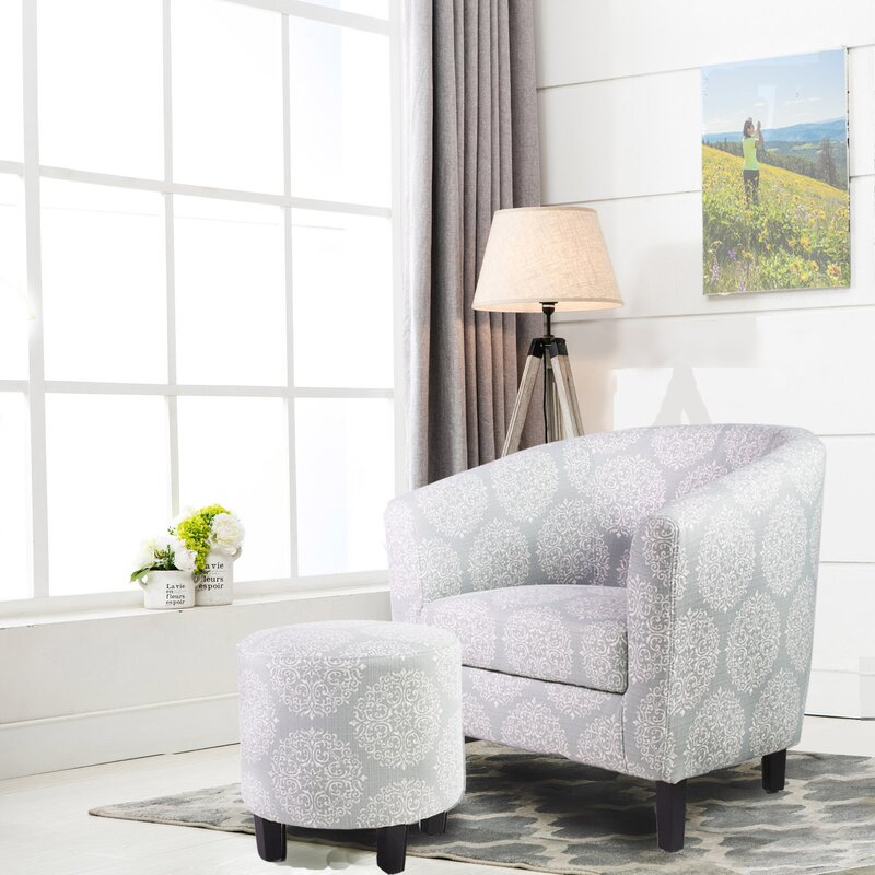 living room chair and ottoman. 7 A M  Barrel Chair with Ottoman Sets You ll Love Wayfair