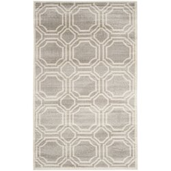 Willa Arlo Interiors Maritza Geometric Light Gray/Ivory Indoor ...
