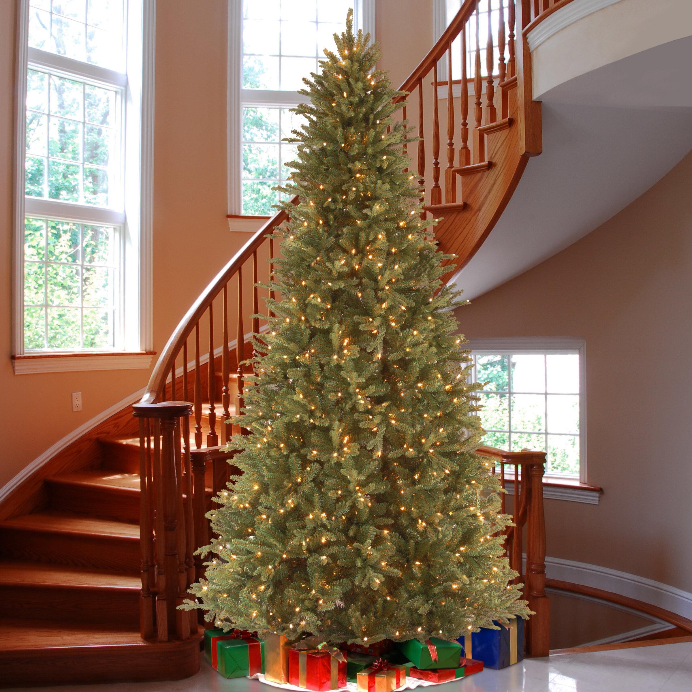 National Tree Co. Tiffany Fir 9\' Green Slim Artificial Christmas ...