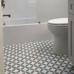 Amlo 8 X Handmade Cement Tile In White Gray