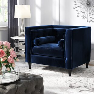 Inspiring Blue Velvet Accent Chair Decoration