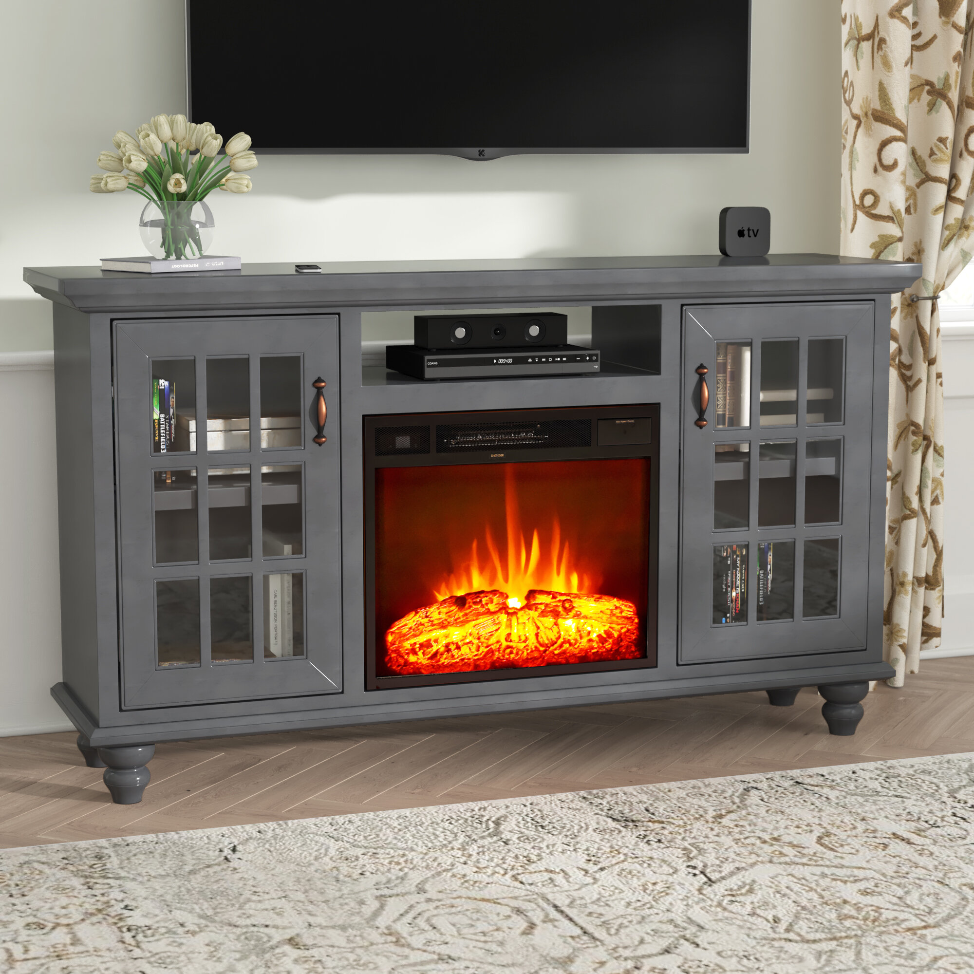 Darby Home Co Blackwell Modern Country Tv Stand For Tvs Up To 60