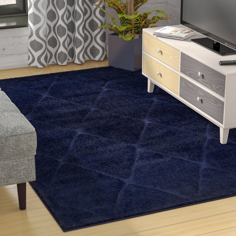 Navy Shag Area Rug Rugs Ideas