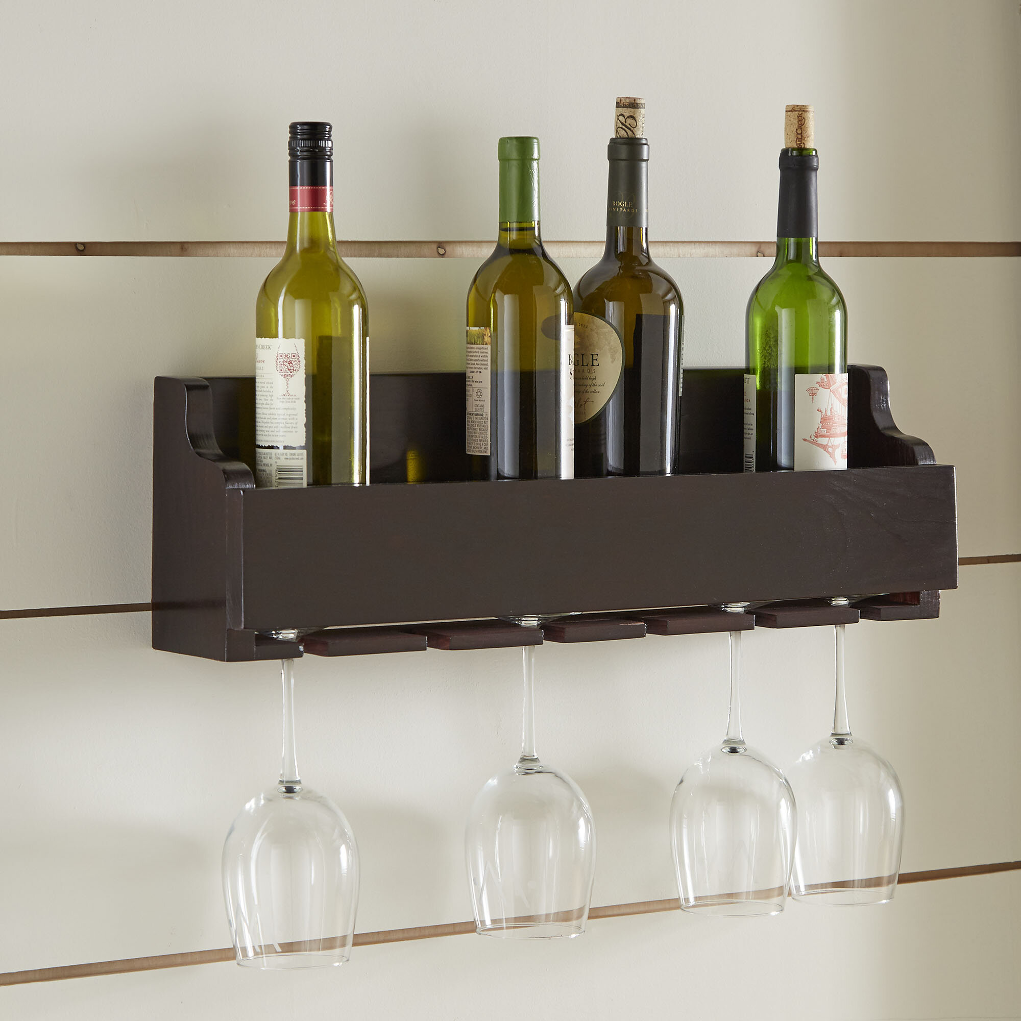 Charlton Home Gonzalez 6 Bottle Wall Mounted Wine Rack Wayfair