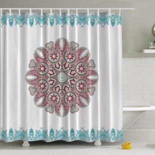 Delicieux Paisley Mandala Print Shower Curtain
