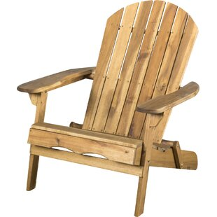 Boone Wood Folding Adirondack Chair (Set Of 2)