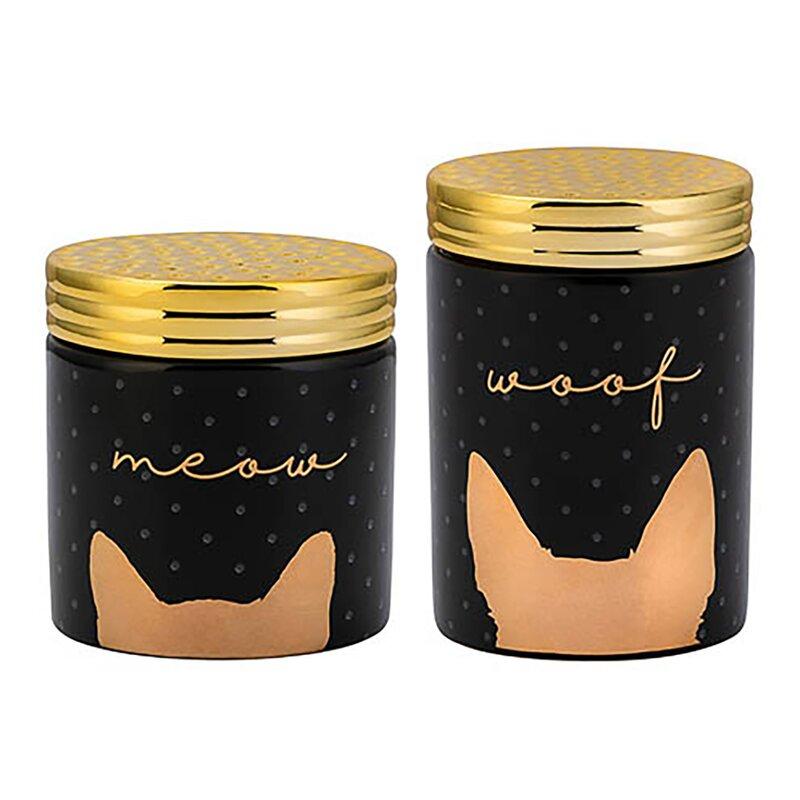 Woof And Meow Ceramic 2 Piece Pet Treat Jar Set Joss Amp Main